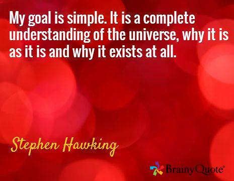 Hawking Qoute Goals